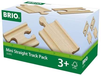 Железнодорожный набор Brio Рельсы прямые короткие 5.4 см 4 элемента 33393