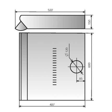 Вытяжка подвесная Elikor Davoline 60П-290-П3Л White