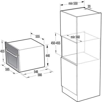 Встраиваемый электрический духовой шкаф Gorenje BCM547INB Silver