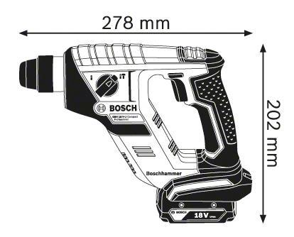 Аккумуляторный перфоратор Bosch GBH 18 V-L 611905300 БЕЗ АККУМУЛЯТОРА И З/У