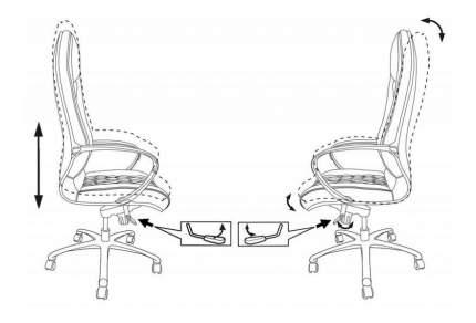 Кресло руководителя Бюрократ _AURA/BROWN, коричневый