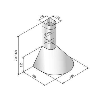 Вытяжка купольная ELIKOR Эпсилон 50 White/Silver
