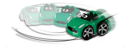 Игрушка пластиковая Chicco Турбо-машина зеленая 65262