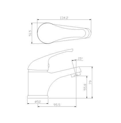 Смеситель для раковины Rossinka Silvermix Y40-11 хром