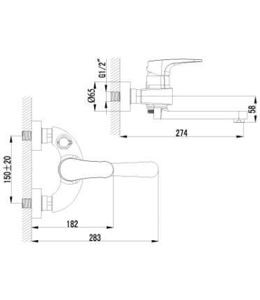 Смеситель универсальный LEMARK Shift LM4314C хром
