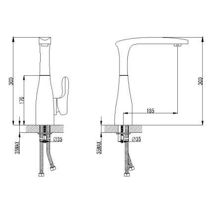 Смеситель для кухонной мойки Berholm Bersen BERSB00B05 хром