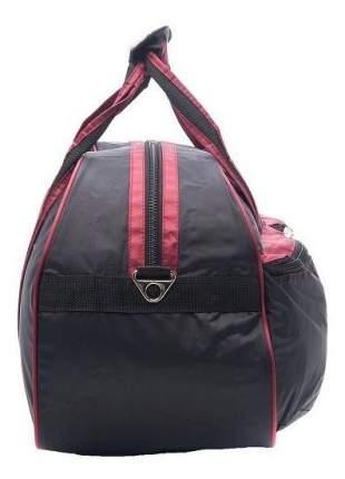 Дорожная сумка Polar П05 черная/бордовая 54 x 29 x 34