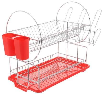 Сушилка для посуды 2-х ярусная Mayer&Boch 23217 Красный