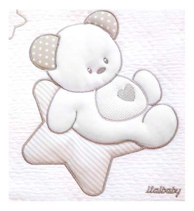 Покрывало детское Italbaby Sweet Star 110х150 пике крем