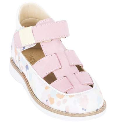 Туфли детские 25002 р.26 кожа, глазурь розовый
