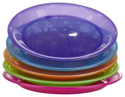 Набор детских пластиковых тарелок Munchkin Цветные 5 шт