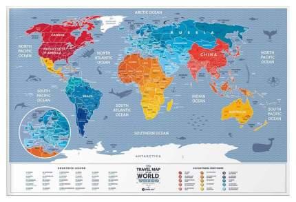 Географическая карта 1DEA.me Travel Map Weekend World