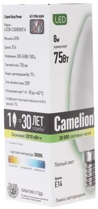 Светодиодная лампа Camelion BasicPower LED8-C35/830/E14 12385 Белый