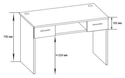 Компьютерный стол СОКОЛ КСТ-107.1 КСТ1071 Б, белый