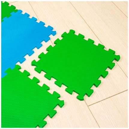 Мягкий коврик-пазл Eco Cover Сине-зеленый 16 деталей 25х25 см