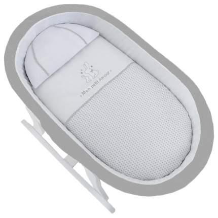 Колыбель-качалка Micuna Nacelle (Микуна Насэлль) МО-1782 Whte/White Grey-Grey текстиль