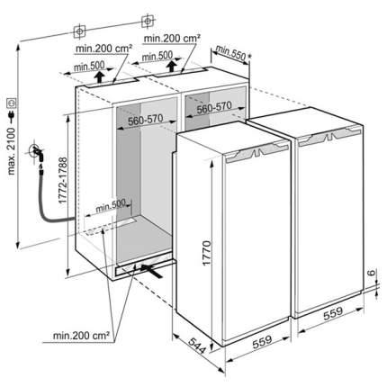 Встраиваемый холодильник Liebherr SBS 70I4-23