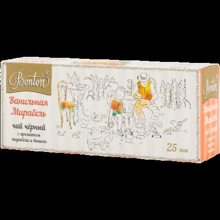 Чай Bonton ванильная мирабель черный 25 пакетиков