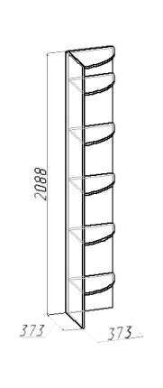 Стеллаж-колонка Глазов-Мебель Калейдоскоп 20