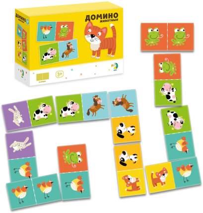 Домино настольная игра Dodo Животные 18*12*6 R300137
