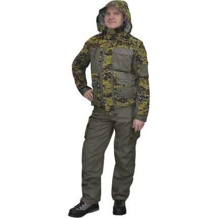 Костюм для охоты Huntsman Зверобой, хаки/цифра №62 кмф, 56-58 RU, 180-188 см