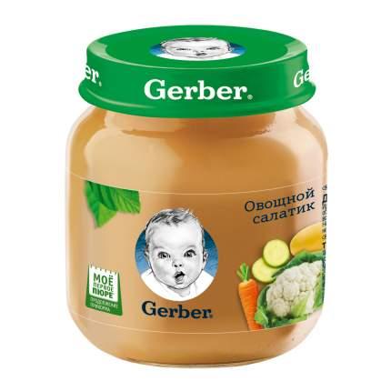 Овощное пюре Gerber Овощной салатик первая ступень , 12 шт. по 130 г