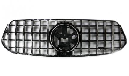 Решетка радиатора Mercedes-Benz GLE W167 2019 - н.в. Хромированная без звезды