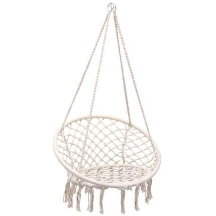 Кресло подвесное Фиби без подушки арт.ZRHC30-A цв.корзины белый, цв.подушки