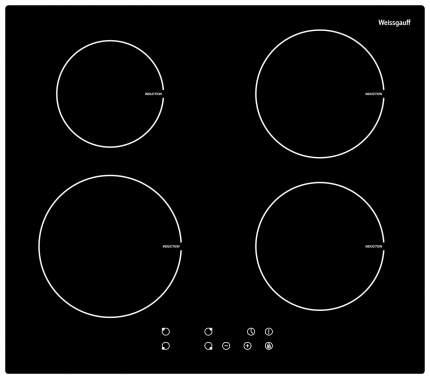 Встраиваемая варочная панель индукционная Weissgauff HI 6140 B Black