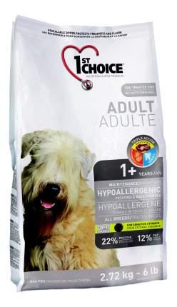 Сухой корм для собак 1st choice Adult Hypoallergenic, гипоаллергенный, утка, 2,72кг
