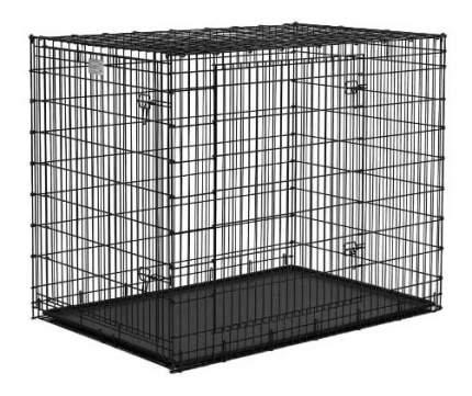Клетка для собак MidWest Grate Ginormus 2 двери 137х94х114hсм, черная