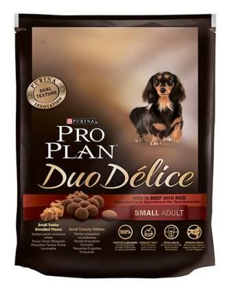 Сухой корм для собак PRO PLAN Duo Delice Small Adult, для мелких пород, говядина,рис,0,7кг
