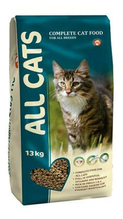 Сухой корм для кошек ALL CATS, полнорационный, мясо, 13кг