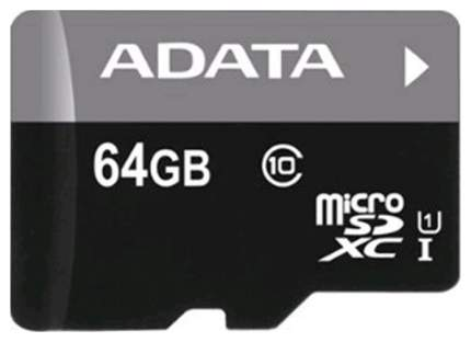Карта памяти ADATA Micro SDXC Premier AUSDX64GUICL10-R 64GB