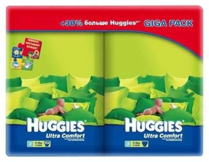Подгузники Huggies Ultra Comfort 3 Giga Pack (5-9 кг), 104 шт.