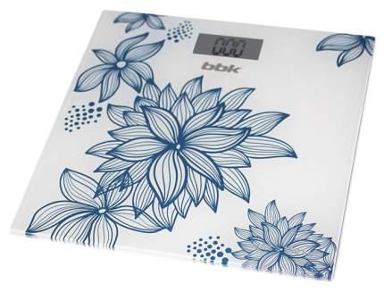 Весы напольные BBK BCS3000G белые с узором