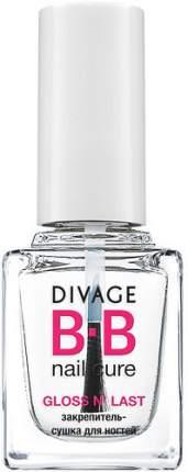 Закрепитель-сушка для ногтей DIVAGE BB Nail Cure Gloss N'last
