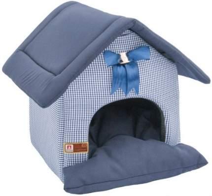 Домик для кошек и собак ЗООГУРМАН 40x45x45см синий