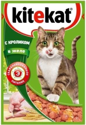 Влажный корм для кошек Kitekat, кролик в желе, 24шт по 85г
