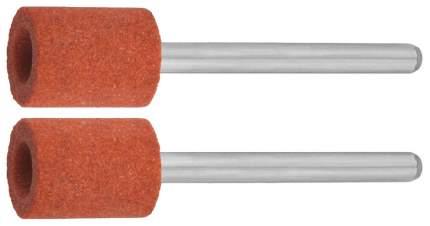 Цилиндр Зубр абразивный шлифовальный на шпильке, P 120, d 9,5x12,7х3,2 мм, L 45мм, 2шт