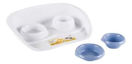 Набор мисок для собак Stefanplast, пластик, белый, голубой, 2 шт 0.2 л и 0.3 л