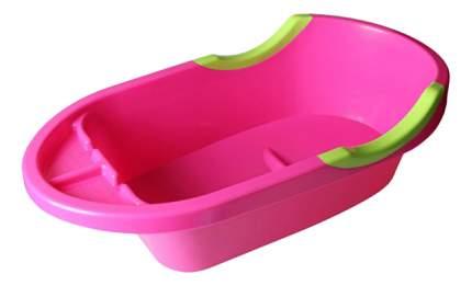 Ванночка пластиковая Альтернатива Малышок ЛЮКС большая розовый
