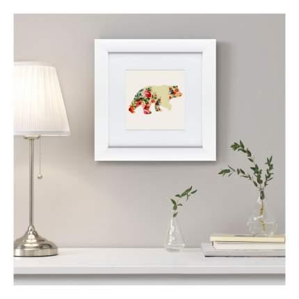 Картина Картины в Квартиру Русская краса. Медведь в цвета х 35 х 35 см