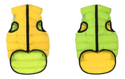 Куртка для собак AiryVest размер M унисекс, зеленый, желтый, длина спины 40 см