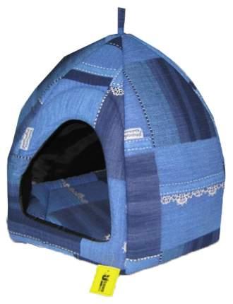 Домик для кошек Usond синий 43x39x45см