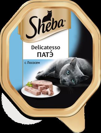 Консервы для кошек Sheba Delicatesso патэ с лососем, 11 шт по 85г
