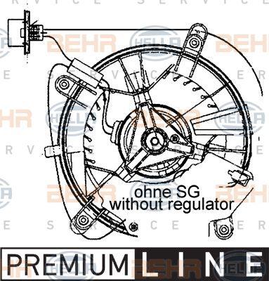 Двигатель моторчика печки Hella 8EW 009 159-461