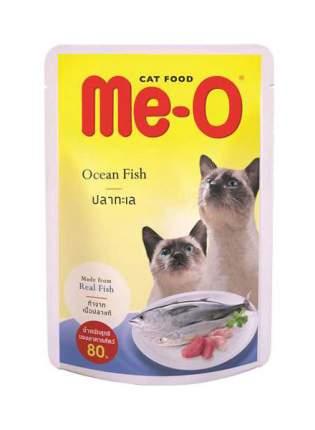 Влажный корм для кошек Me-O Adult, океаническая рыба в желе, 80г