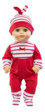 Одежда для кукол комбинезон с шапочкой красный Виана 11714