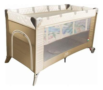 Кровать-манеж Intelletto 5 в 1 beige Sweet Baby
